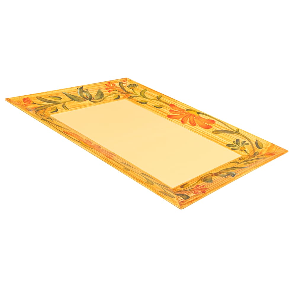 "GET ML-99-VN Rectangular Display Tray, 24"" x 18"", Melamine, Yellow"