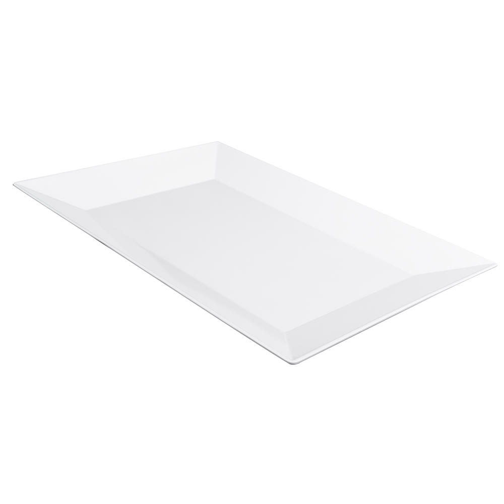 "GET ML-99-W Rectangular Display Tray, 24"" x 18"", Melamine, White"