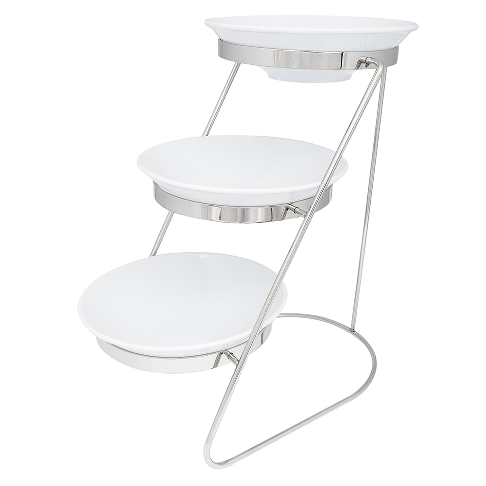 """GET MTS029/ML72W-SET 3-Tier Display Stand Set, 11.25"""" x 17.75"""" x 18.75"""", Stainless"""
