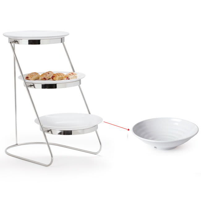 "GET MTS029/ML73W-SET 3 Tier Display Stand Set, 11.25"" x 17.75"" x 18.75"", Stainless"
