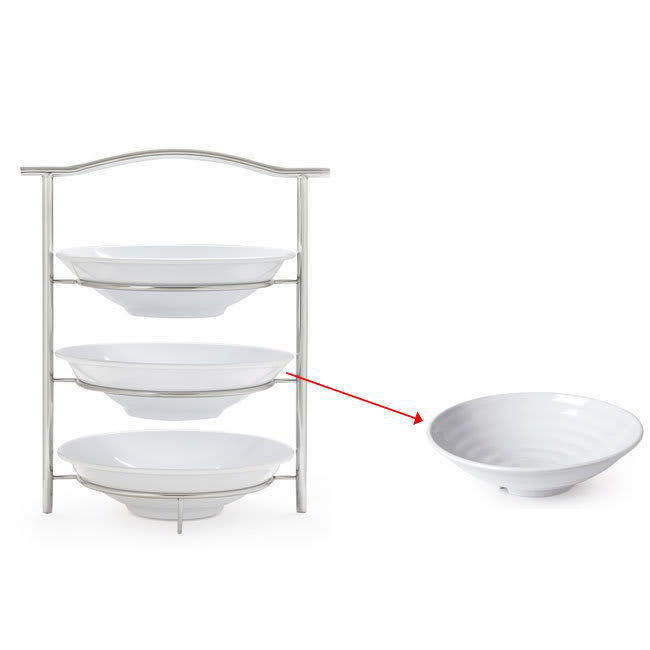 "GET MTS031/ML73W-SET 3 Tier Display Stand Set, 14.25"" x 8.25"" x 19.5"", Stainless"