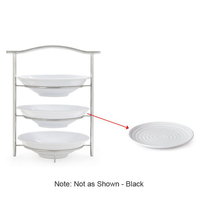 "GET MTS031/ML82BK-SET 3 Tier Display Stand Set, 14.25"" x 8.25"" x 19.5"", Stainless"