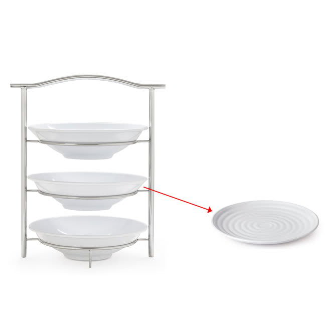 "GET MTS031/ML82W-SET 3-Tier Display Stand Set, 14.25"" x 8.25"" x 19.5"", Stainless"