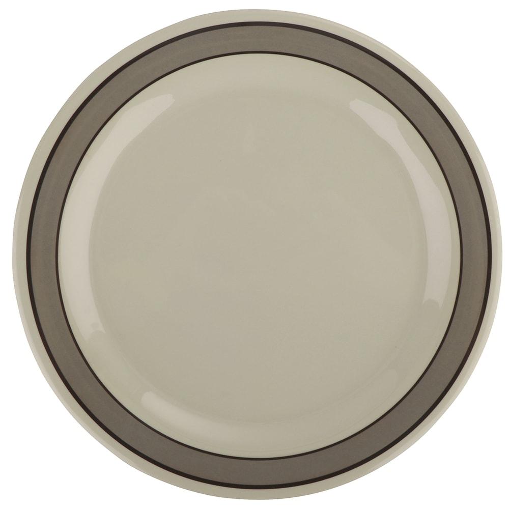 "GET NP-10-CA 10.5"" Round Dinner Plate, Melamine, White"