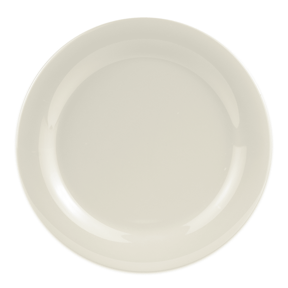 "GET NP-10-DI 10.5"" Round Dinner Plate, Melamine, Ivory"