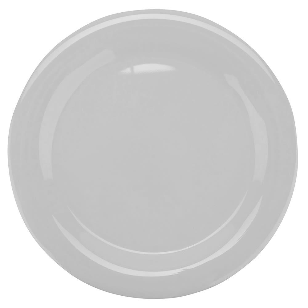 "GET NP-10-DW 10.5"" Round Dinner Plate, Melamine, White"