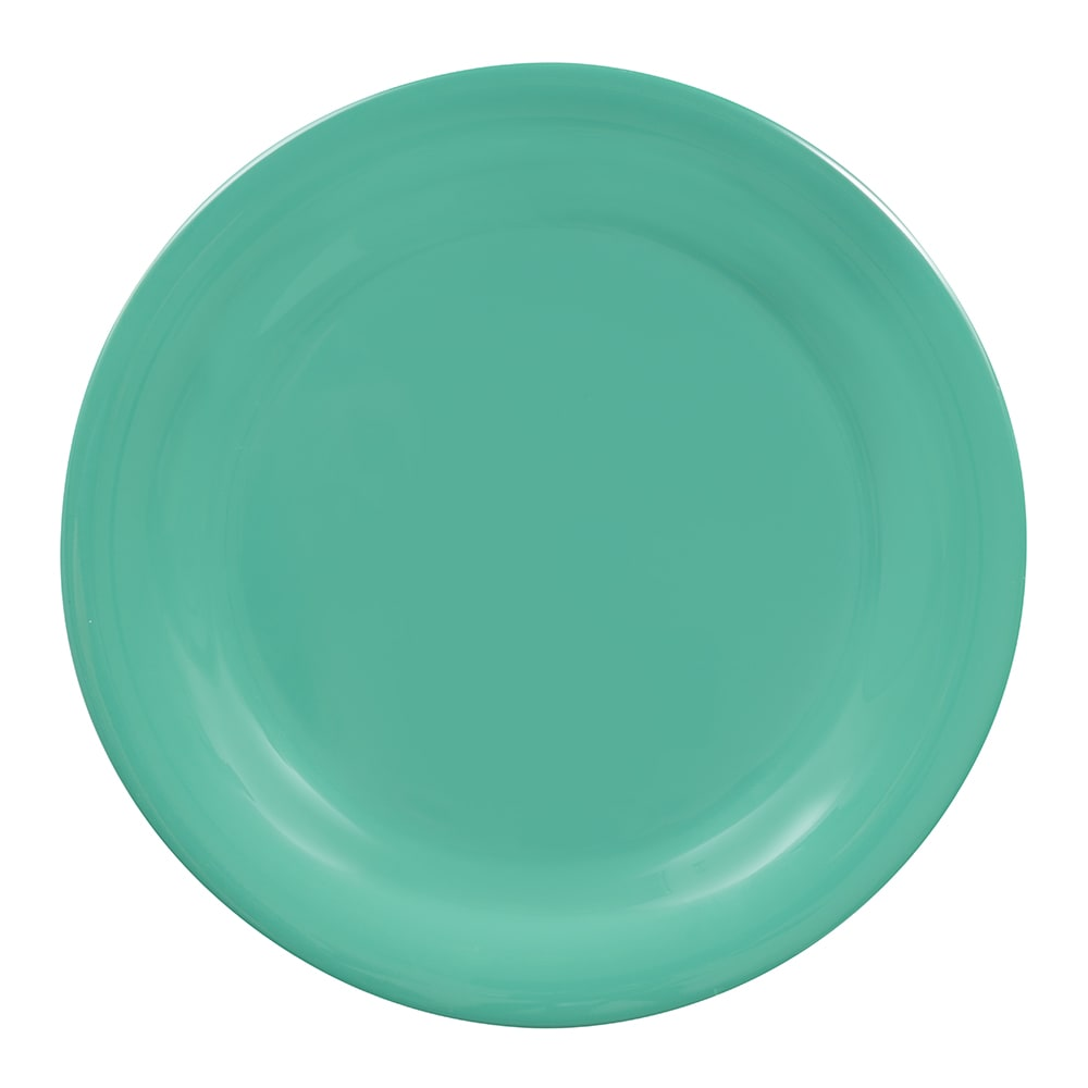 "GET NP-10-FG 10.5"" Round Dinner Plate, Melamine, Green"