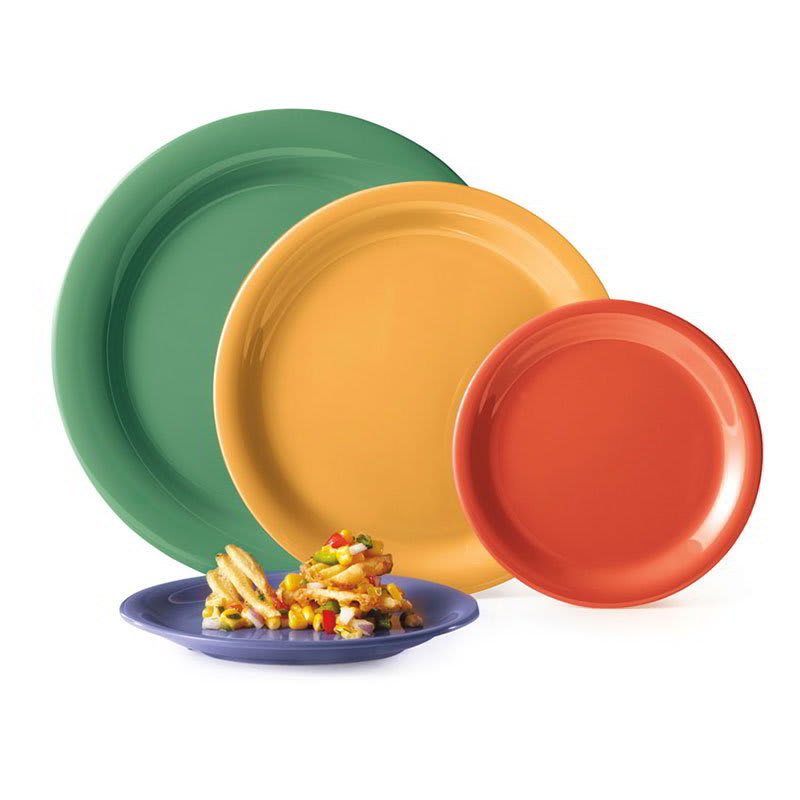 "GET NP-10-MIX (4) 10.5"" Round Dinner Plate, Melamine, Multi-Colored"