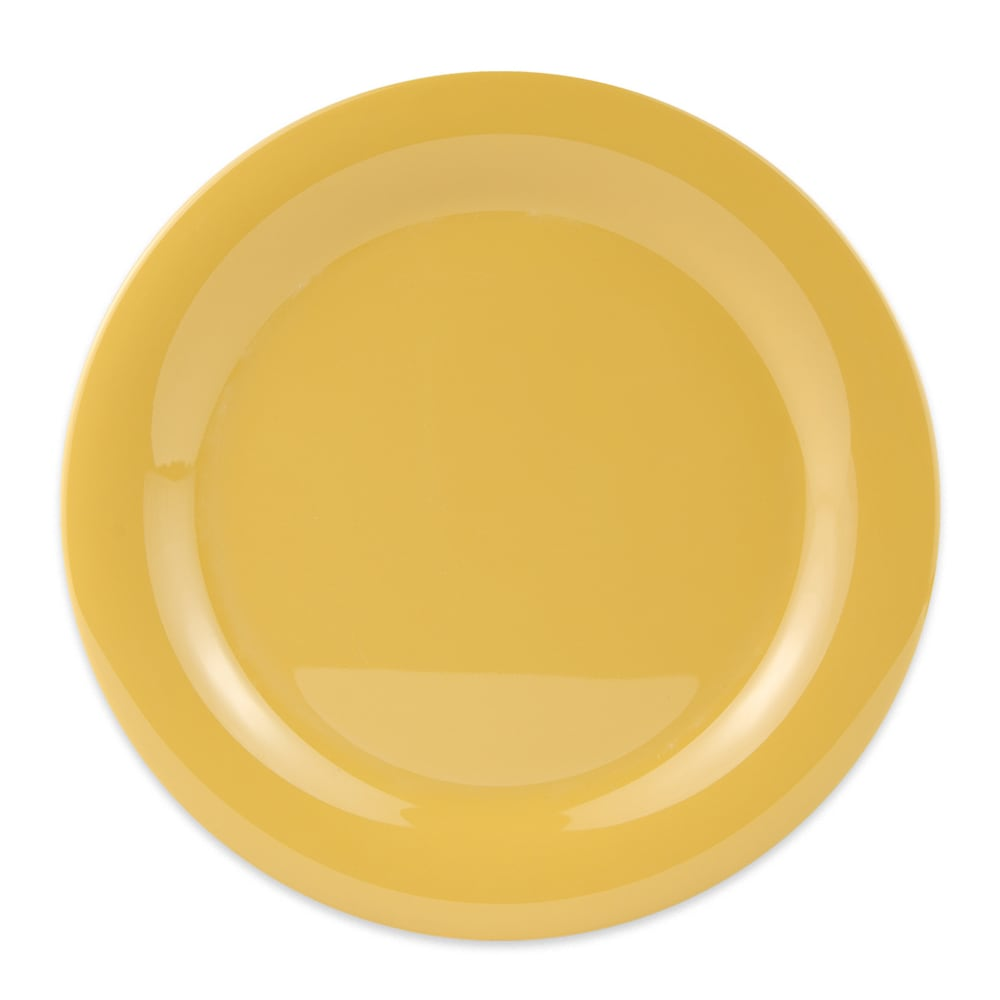 "GET NP-10-TY 10.5"" Round Dinner Plate, Melamine, Yellow"