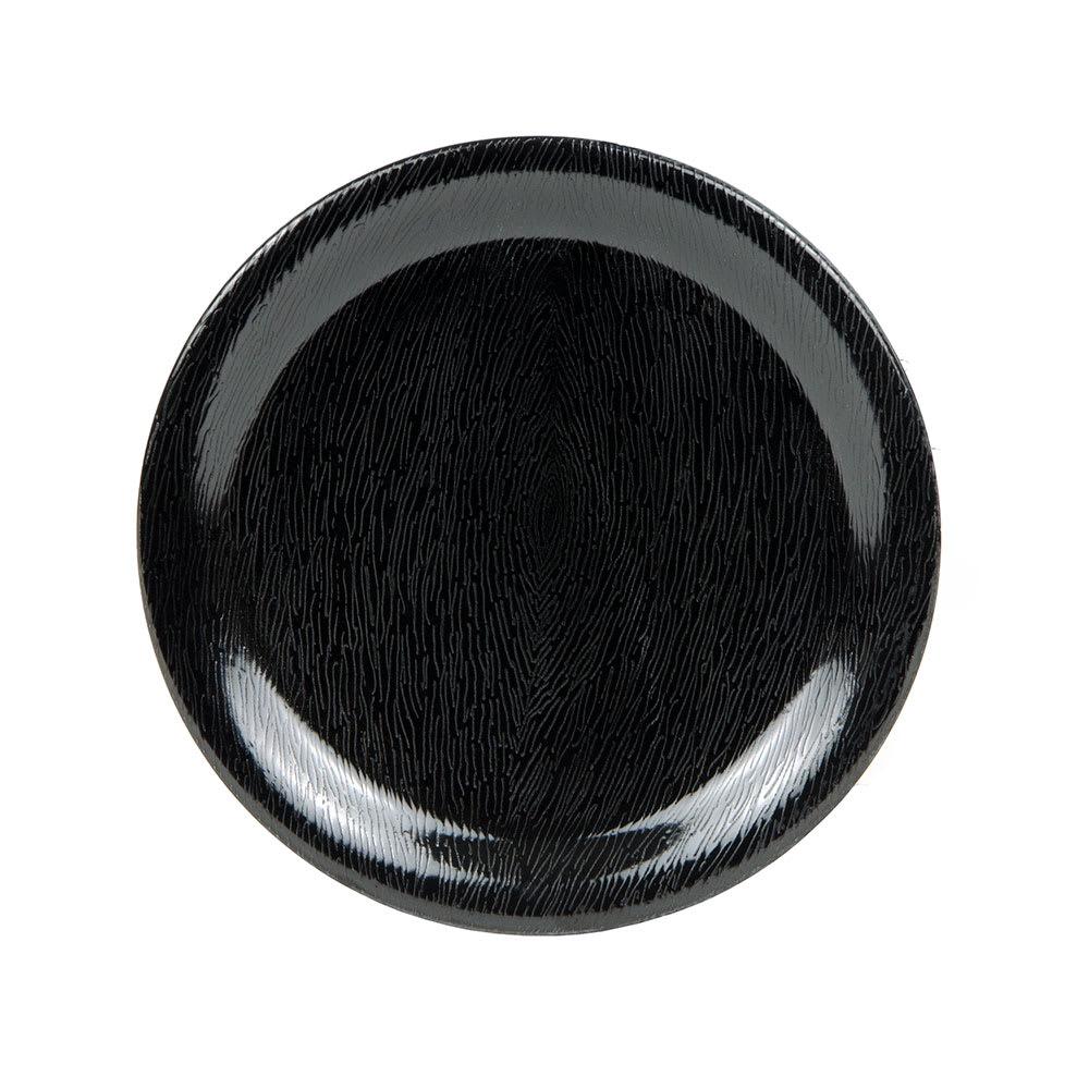 """GET NP-6-BK 6.5"""" Round Dessert Plate, Melamine, Black"""