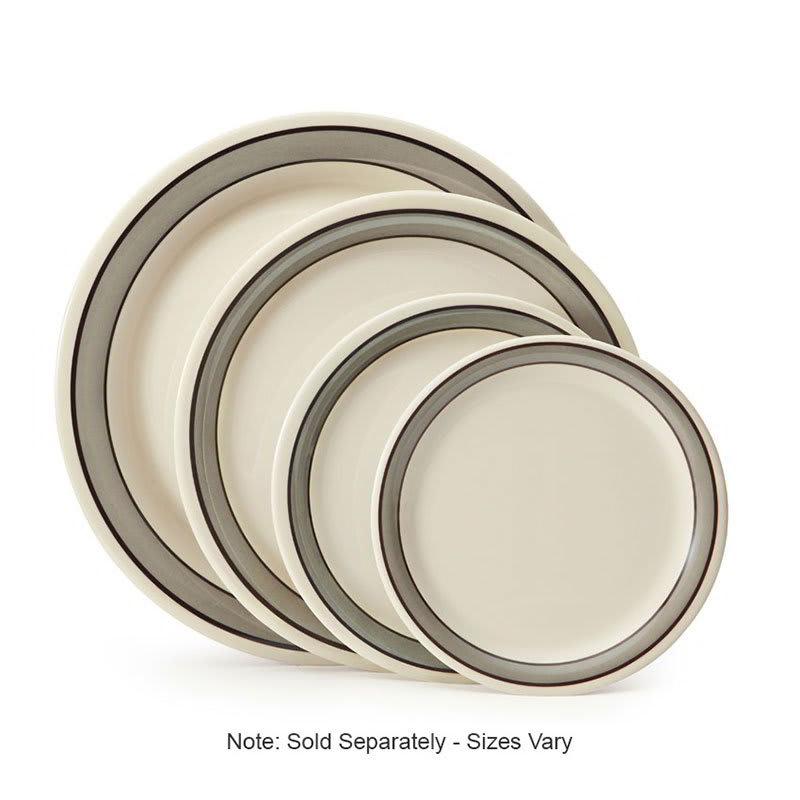 "GET NP-6-CA 6.5"" Diamond Cambridge Plate w/ Narrow Rim, Melamine"