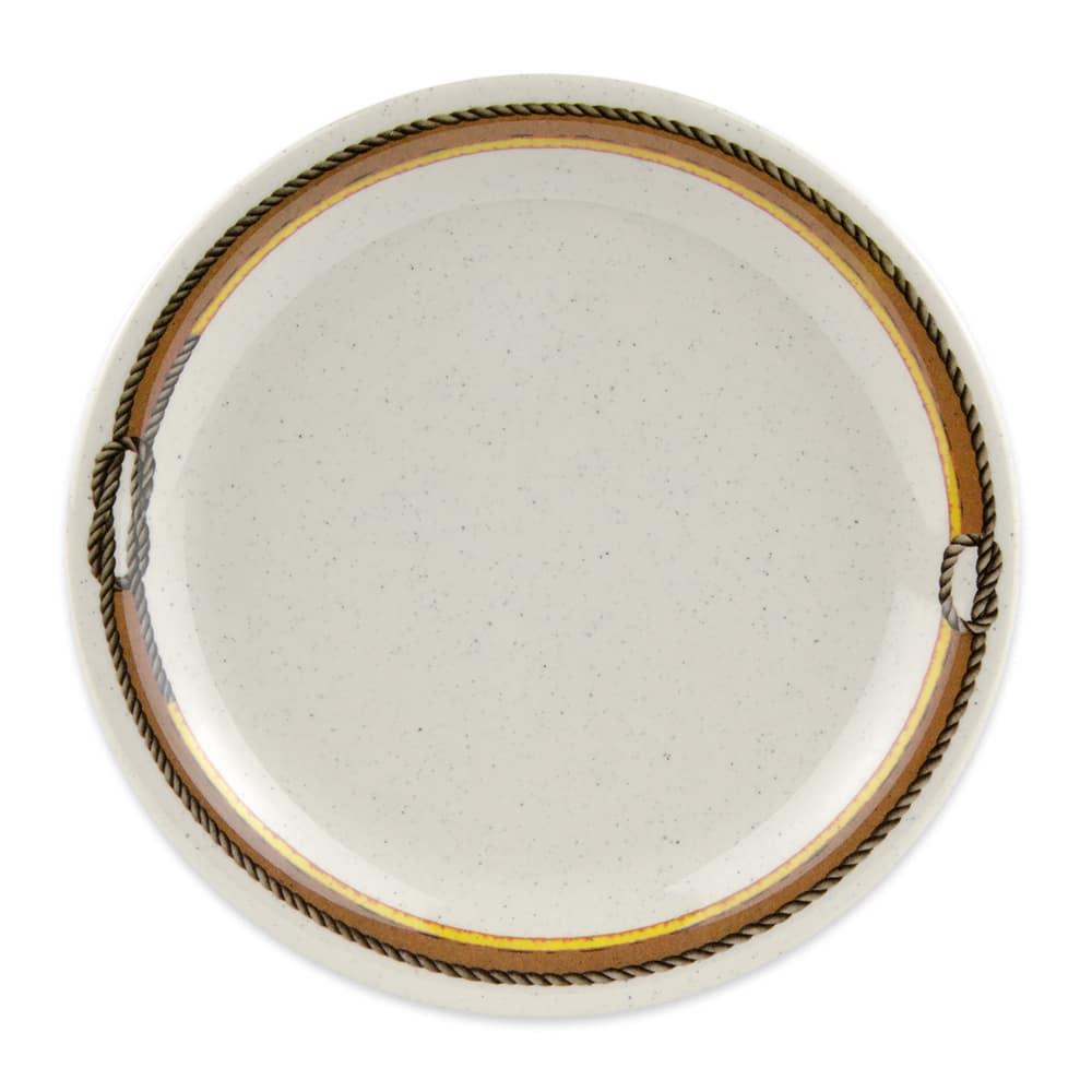"""GET NP-6-RD 6.5"""" Round Dessert Plate, Melamine, Brown"""