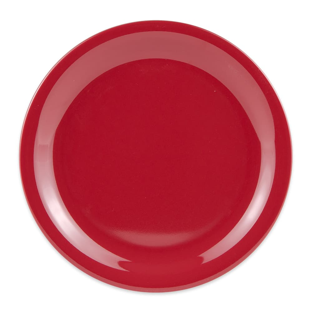 "GET NP-7-CR 7.25"" Round Salad Plate, Melamine, Cranberry"