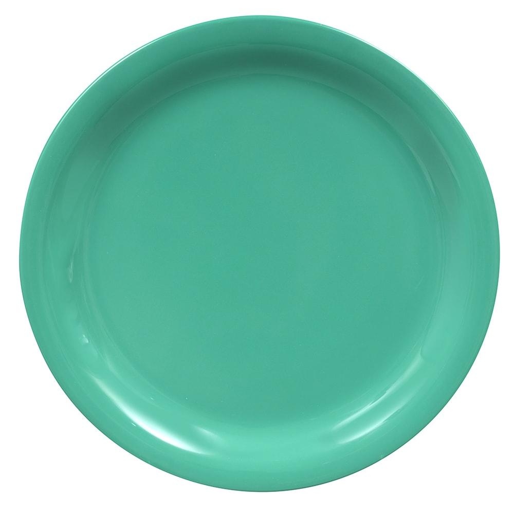 "GET NP-7-FG 7.25"" Round Salad Plate, Melamine, Green"