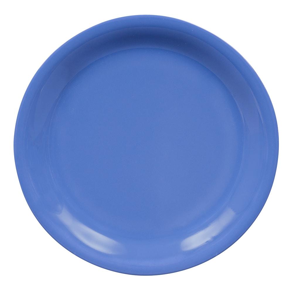 "GET NP-7-PB 7.25"" Round Salad Plate, Melamine, Blue"