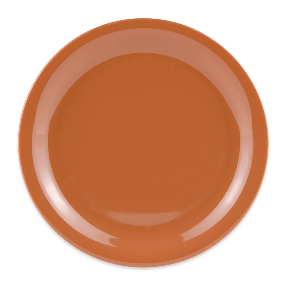 """GET NP-7-PK 7.25"""" Round Salad Plate, Melamine, Pumpkin"""