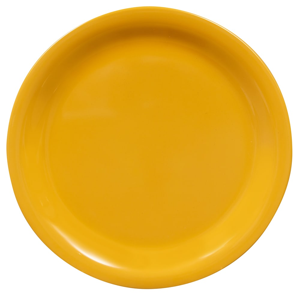"GET NP-7-TY 7.25"" Round Salad Plate, Melamine, Yellow"