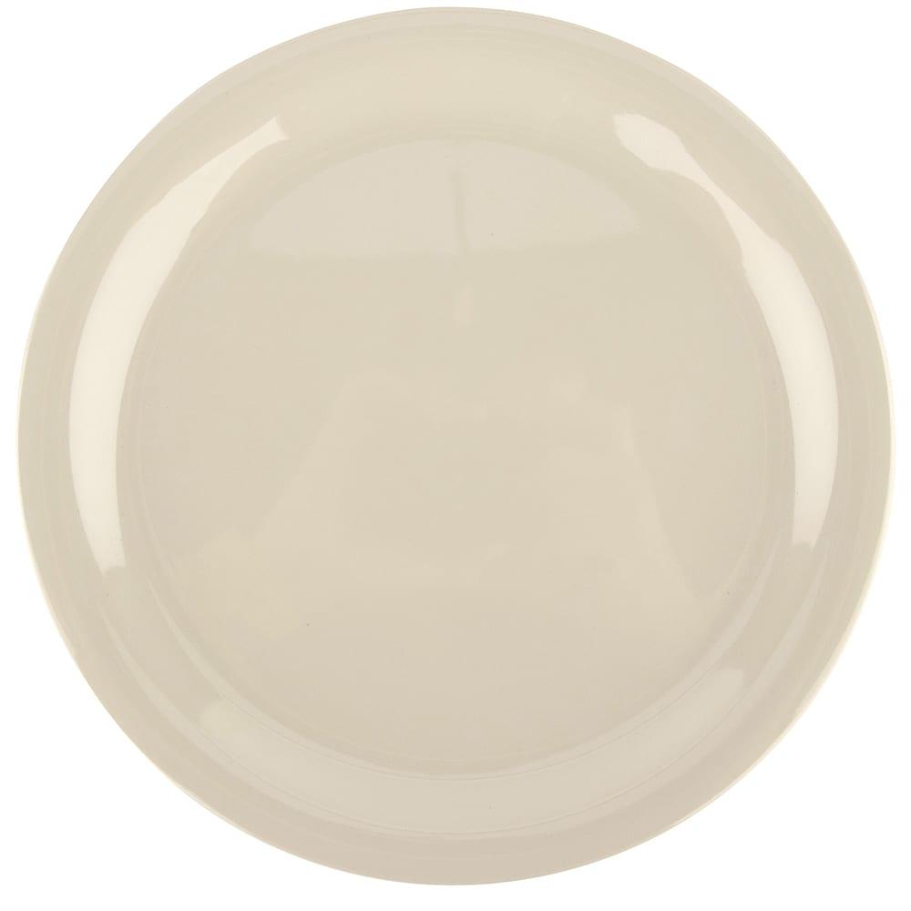 "GET NP-9-DI 9"" Round Dinner Plate, Melamine, Ivory"