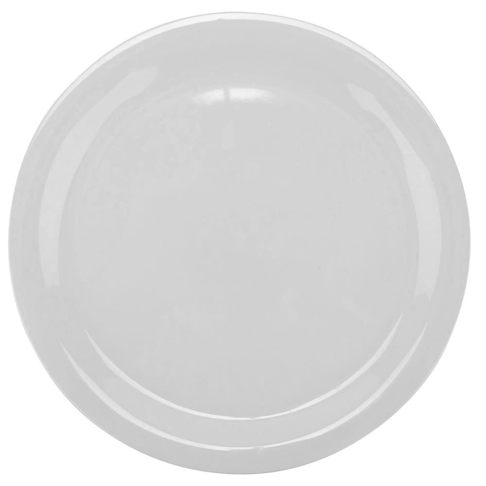 "GET NP-9-DW 9"" Round Dinner Plate, Melamine, White"