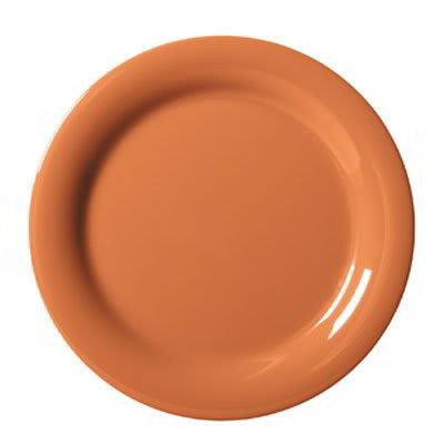 "GET NP-9-PK 9"" Round Dinner Plate, Melamine, Pumpkin"