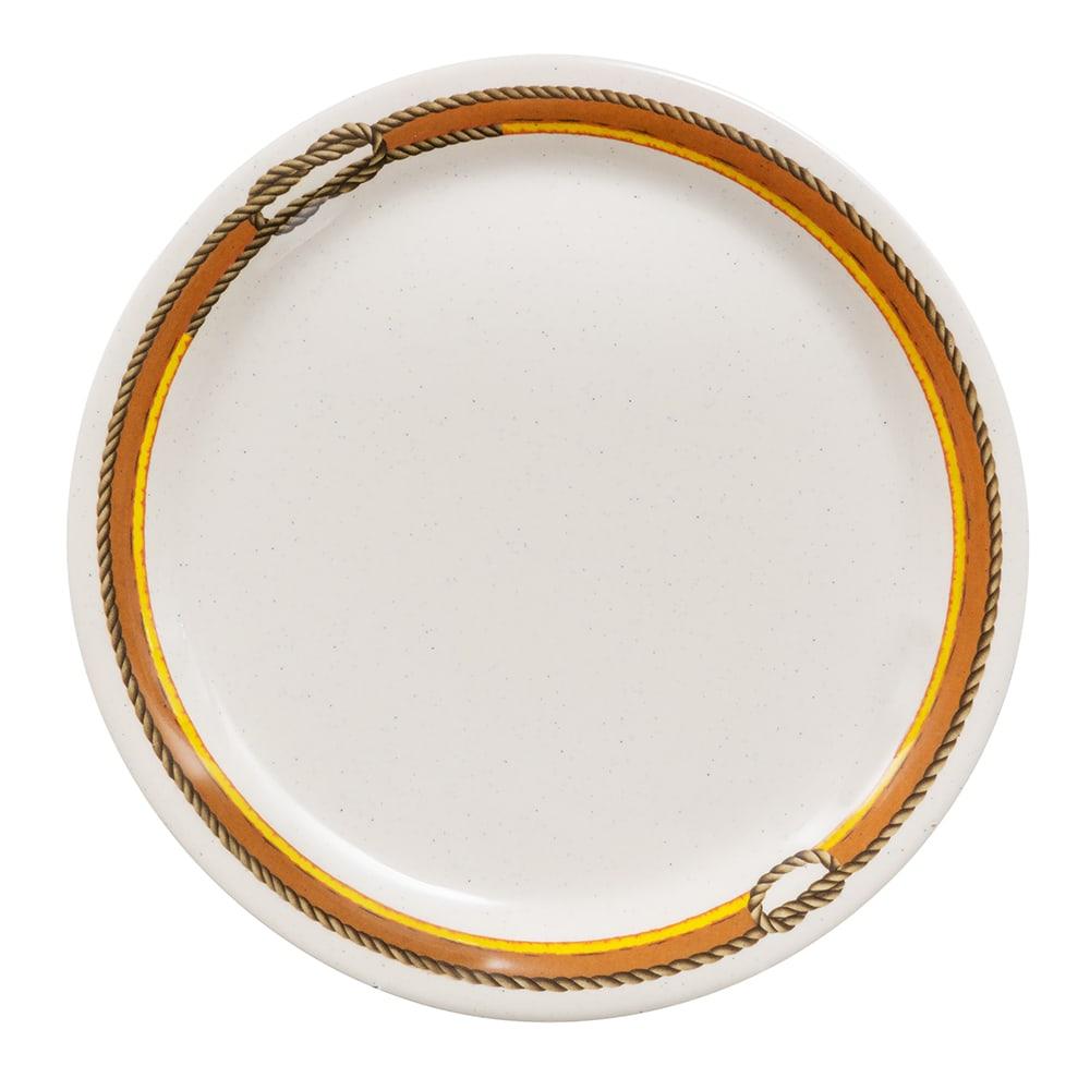 "GET NP-9-RD 9"" Round Dinner Plate, Melamine, Brown"
