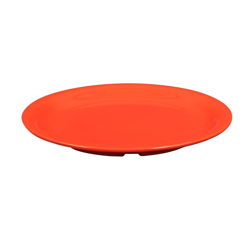 """GET NP-9-RO 9"""" Round Dinner Plate, Melamine, Orange"""