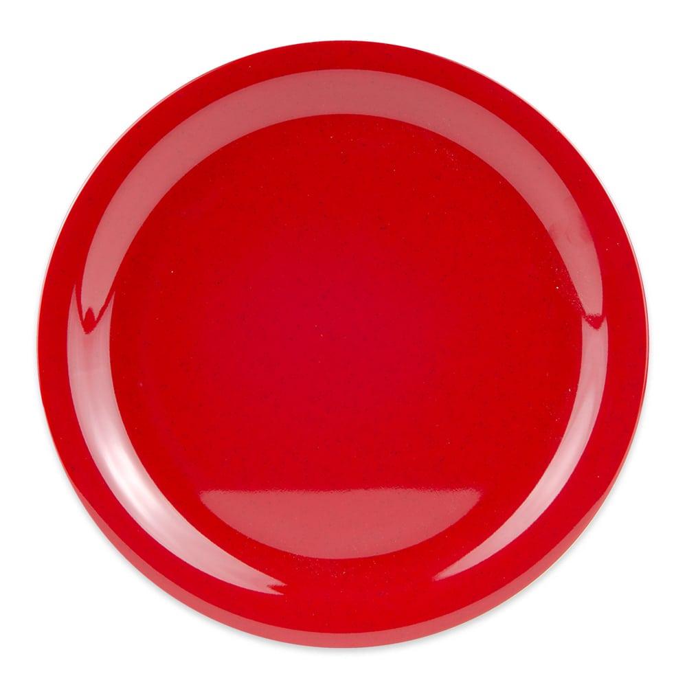 "GET NP-9-RSP 9"" Round Dinner Plate, Melamine, Red"