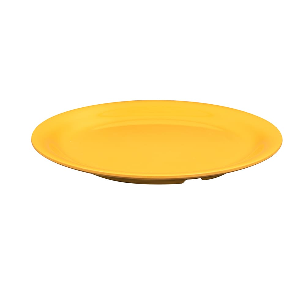 "GET NP-9-TY 9"" Round Dinner Plate, Melamine, Yellow"