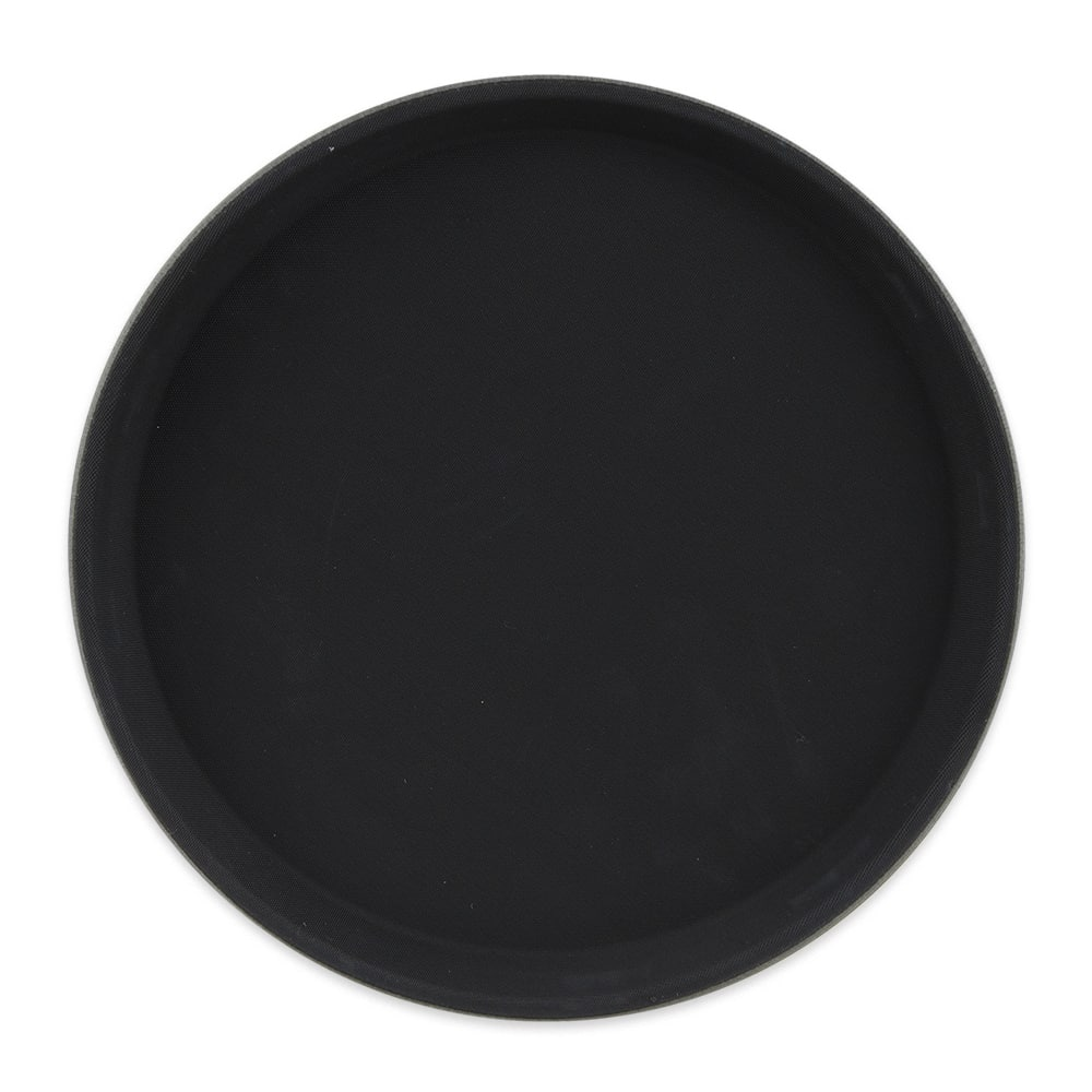 "GET NS-1100-BK 11"" Round Serving Tray, Melamine, Black"