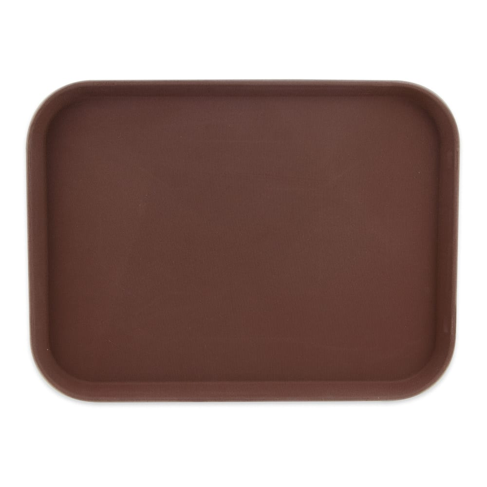 "GET NS-1216-BR Rectangular Serving Tray, 12"" x 16"", Melamine, Brown"
