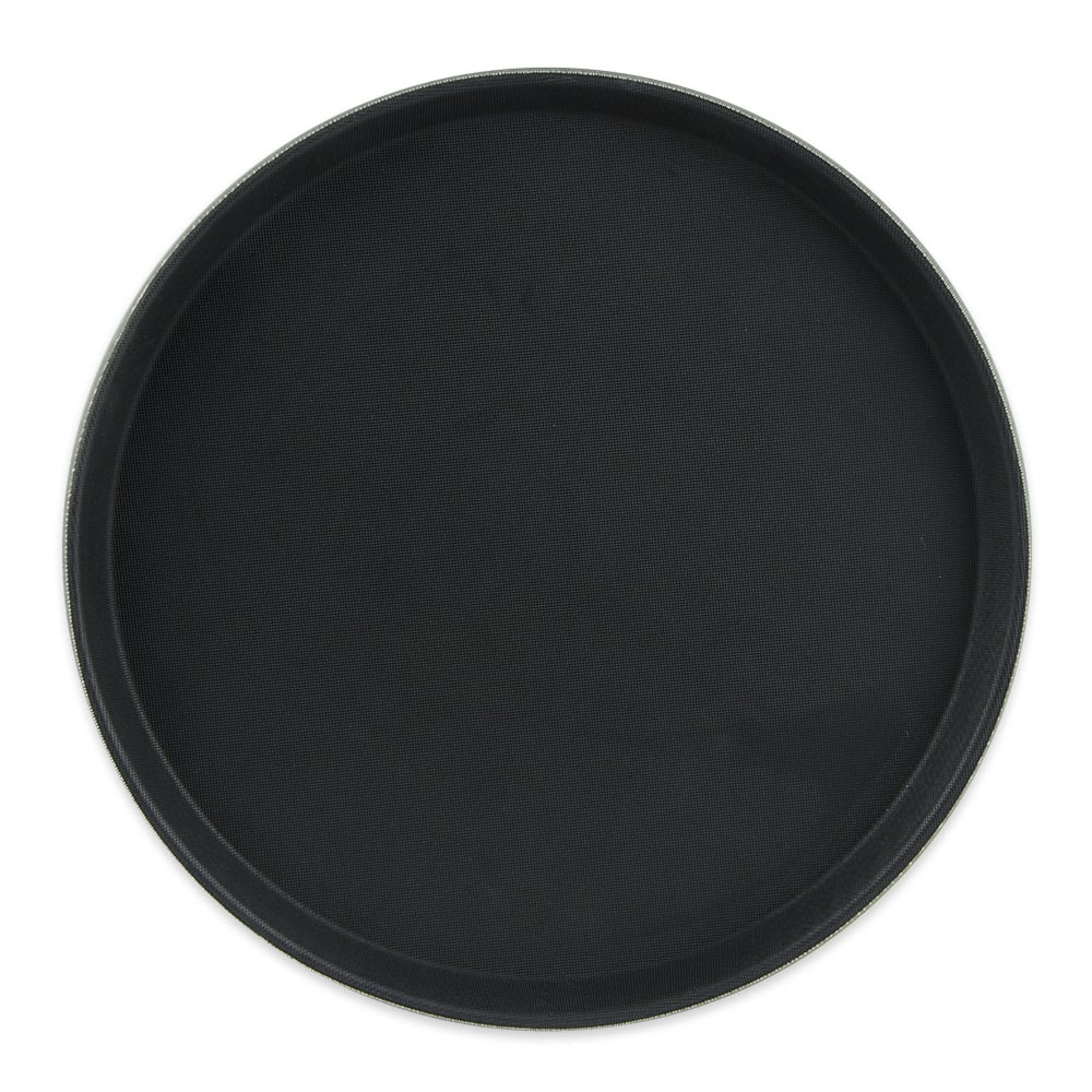 "GET NS-1400-BK 14"" Round Serving Tray, Melamine, Black"