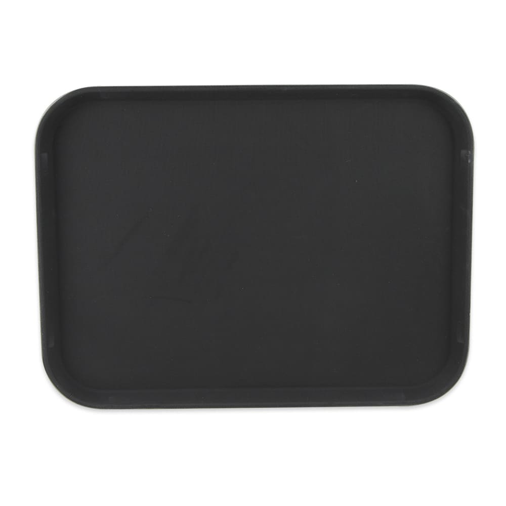 "GET NS-1520-BK Rectangular Serving Tray, 15"" x 20"", Melamine, Black"