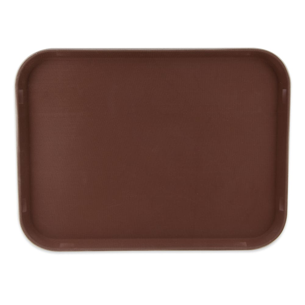 "GET NS-1520-BR Rectangular Serving Tray, 15"" x 20"", Melamine, Brown"