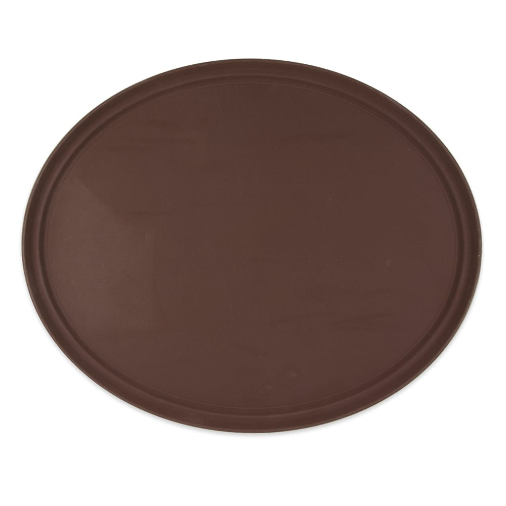 """GET NS-3100-BR Oval Serving Tray, 31"""" x 25"""", Melamine, Brown"""