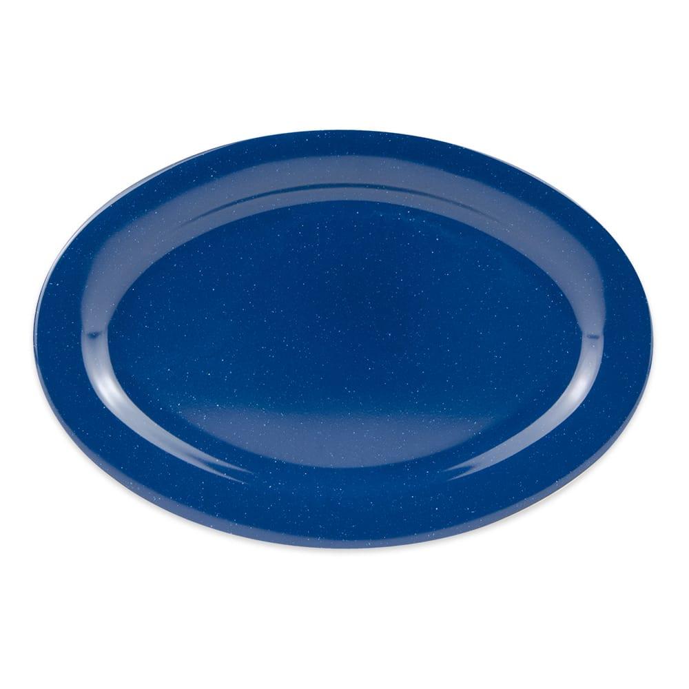 """GET OP-115-TB Oval Serving Platter, 11.5"""" x 8"""", Melamine, Blue"""