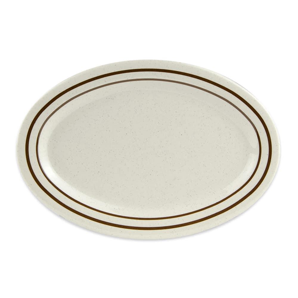 """GET OP-115-U Oval Serving Platter, 11.5"""" x 8"""", Melamine, White"""