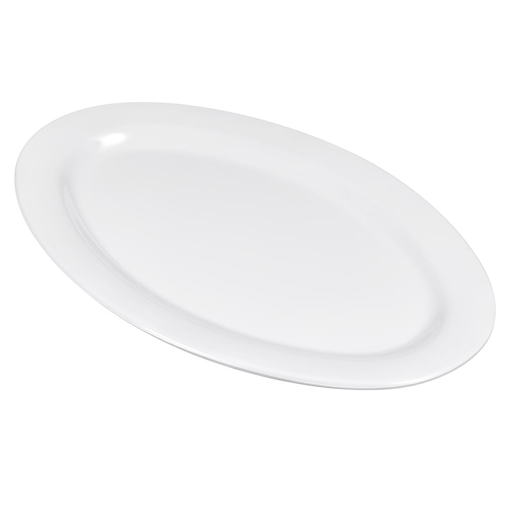 "GET OP-115-W Oval Serving Platter, 11.5"" x 8"", Melamine, White"