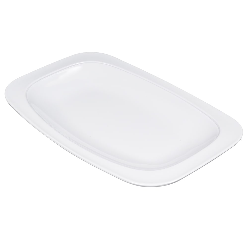 "GET OP-116-W Rectangular Serving Platter, 12.5"" x 8.25"", Melamine, White"