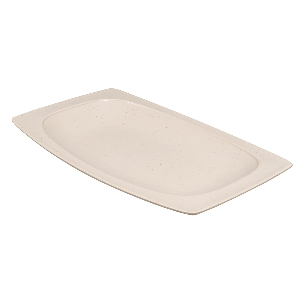 "GET OP-118-MS Oval Serving Platter, 12.25"" x 8"", Melamine, Brown"
