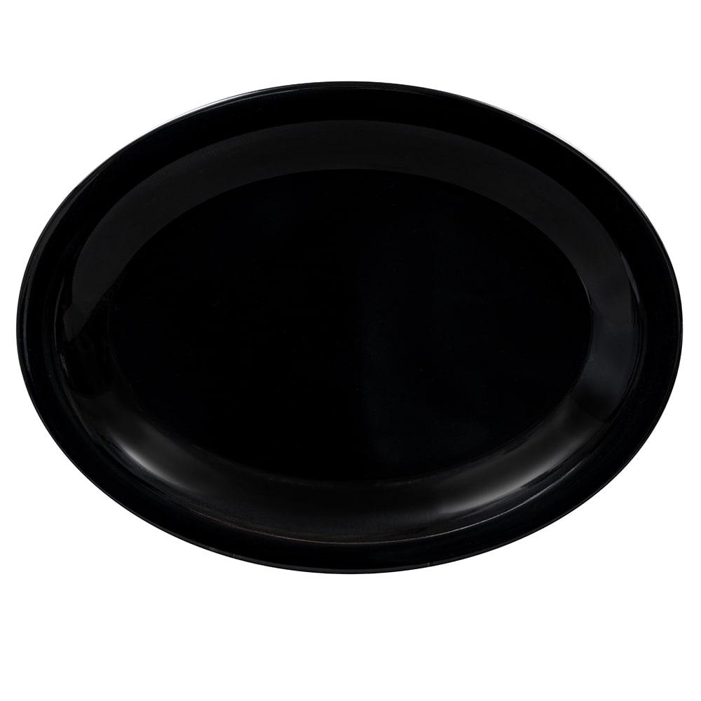 """GET OP-120-BK Oval Serving Platter, 12"""" x 9"""", Melamine, Black"""