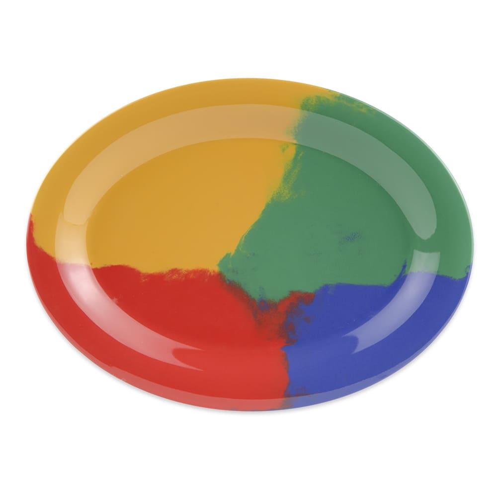 """GET OP-120-CE Oval Serving Platter, 12"""" x 9"""", Melamine, Multi-Colored"""
