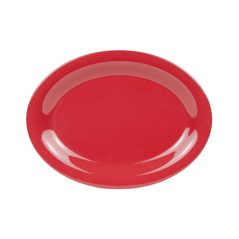 """GET OP-120-CR Oval Serving Platter, 12"""" x 9"""", Melamine, Cranberry"""