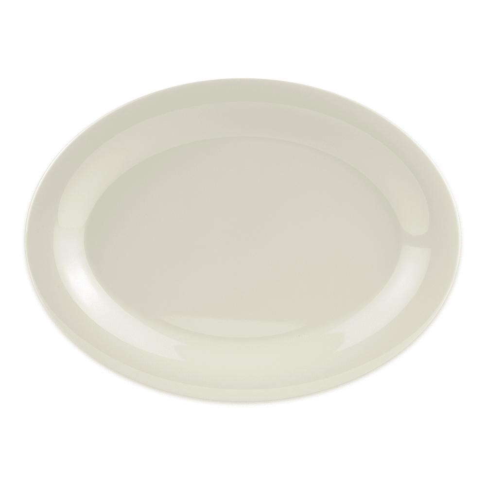 "GET OP-120-DI Oval Serving Platter, 12"" x 9"", Melamine, Ivory"