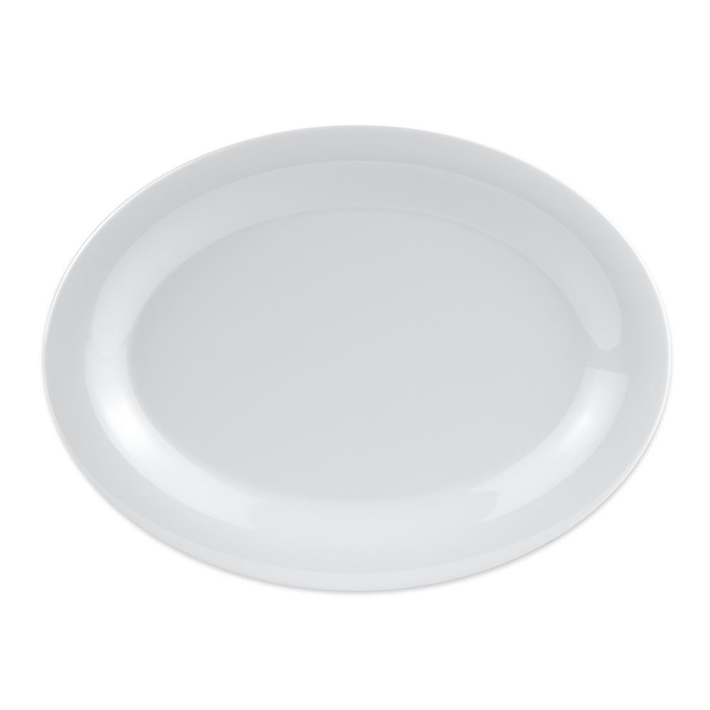 """GET OP-120-DW Oval Serving Platter, 12"""" x 9"""", Melamine, White"""