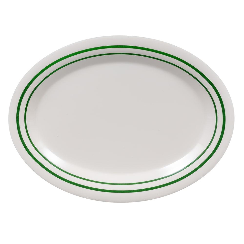 """GET OP-120-EM Oval Serving Platter, 12"""" x 9"""", Melamine, White"""