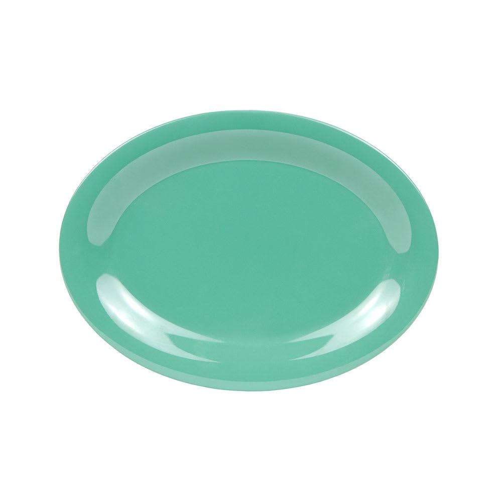 "GET OP-120-FG Oval Serving Platter, 12"" x 9"", Melamine, Green"
