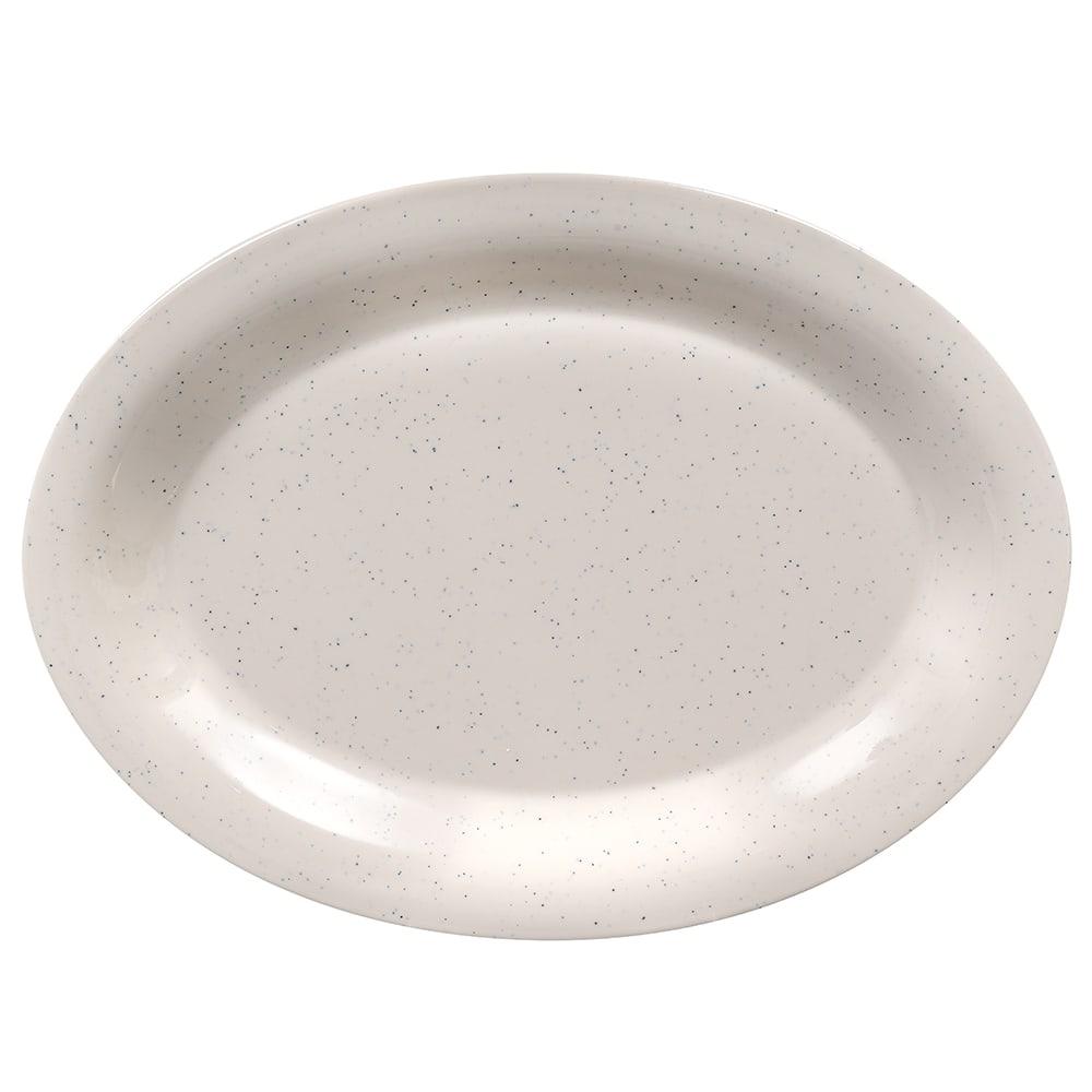 "GET OP-120-IR Oval Serving Platter, 12"" x 9"", Melamine, White"