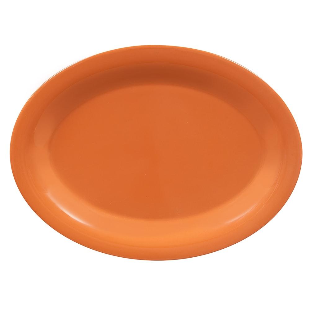 """GET OP-120-PK Oval Serving Platter, 12"""" x 9"""", Melamine, Orange"""