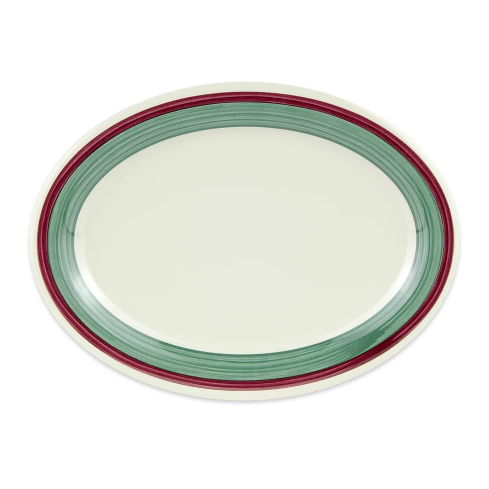 "GET OP-120-PO Oval Serving Platter, 12"" x 9"", Melamine, White"