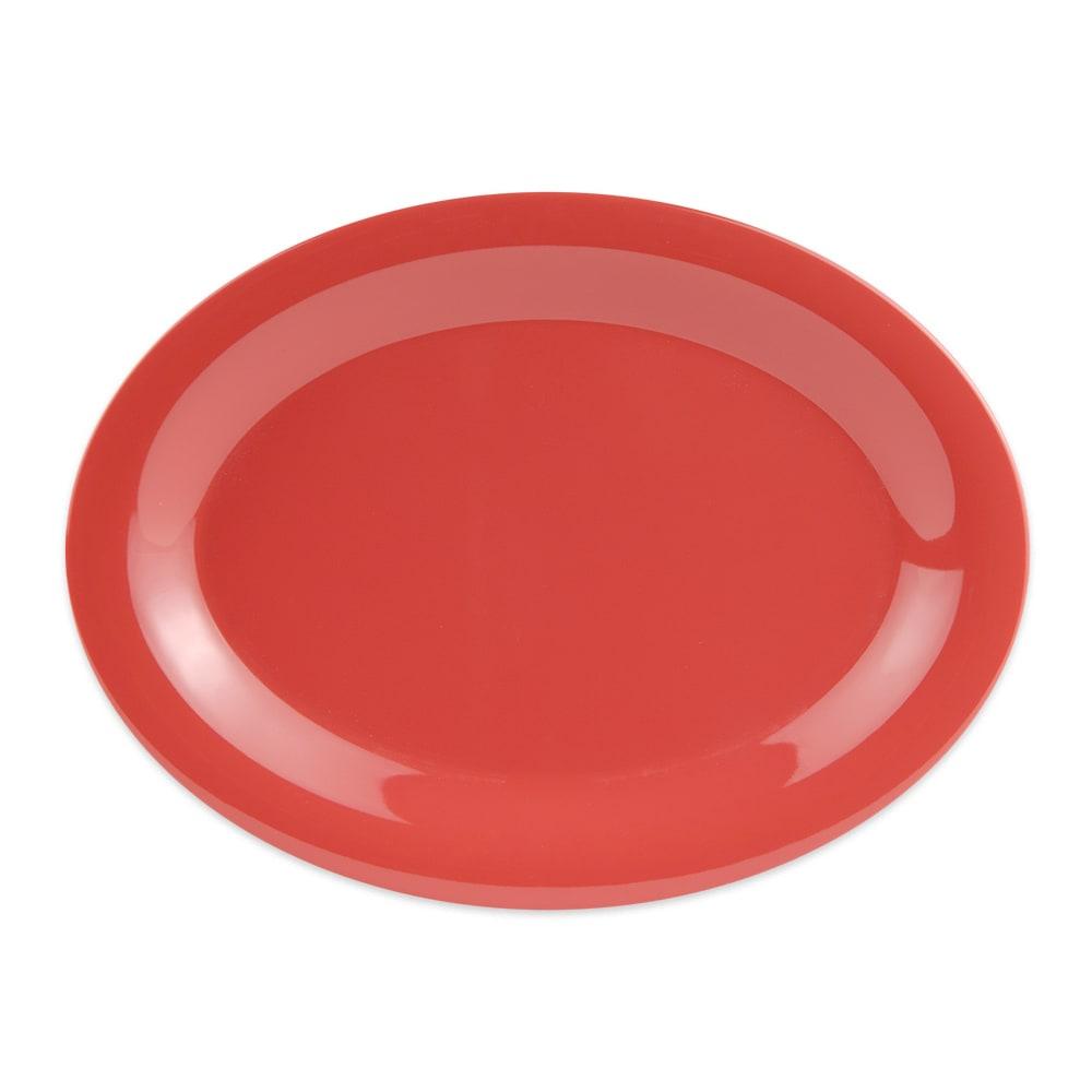 "GET OP-120-RO Oval Serving Platter, 12"" x 9"", Melamine, Orange"